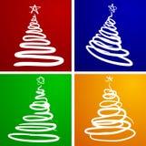 Árvores de Natal. ilustração do vetor