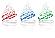 Árvores de Natal abstratas,   Imagem de Stock