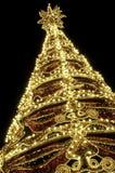 Árvores de Natal abstratas de brilho bonitas Fotografia de Stock