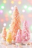 Árvores de Natal coloridas cor pastel Fotografia de Stock