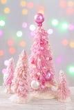 Árvores de Natal coloridas cor pastel Imagens de Stock