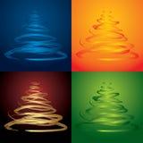 Árvores de Natal do vetor Fotos de Stock Royalty Free