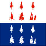 Árvores de Natal do vetor Imagem de Stock Royalty Free