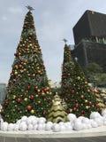 Árvores de Natal grandes Imagens de Stock
