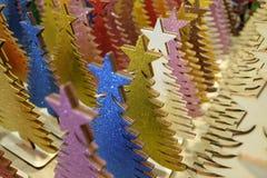 Árvores de Natal de madeira Foto de Stock Royalty Free