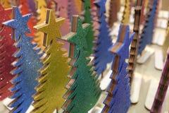 Árvores de Natal de madeira Imagens de Stock