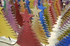Árvores de Natal de madeira Fotos de Stock