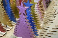 Árvores de Natal de madeira Imagem de Stock Royalty Free