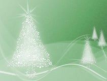 Árvores de Natal no fundo ondulado do redemoinho verde ilustração do vetor