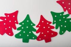 árvores de Natal vermelhas e verdes abstratas Foto de Stock Royalty Free