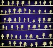 Árvores de Natal, vetor Imagens de Stock