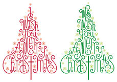 Árvores de Natal, vetor Imagem de Stock Royalty Free