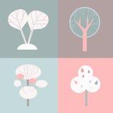 Árvores decorativas Imagem de Stock