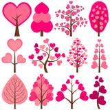 Árvores do coração ilustração royalty free