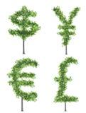 Árvores do dinheiro ilustração stock