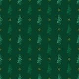 Árvores do fundo no verde Imagens de Stock Royalty Free