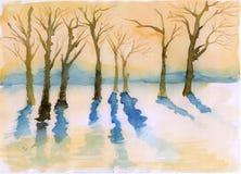 Árvores do inverno Ilustração do Vetor