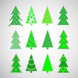 Árvores do inverno do Natal do vetor fotografia de stock