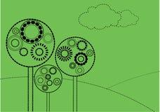Árvores do maquinismo de relojoaria Ilustração Stock