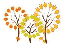 Árvores do outono Ilustração Stock
