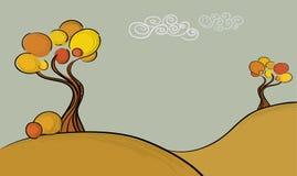 Árvores do outono Ilustração Royalty Free