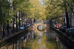 Árvores do outono em Amsterdão, Holanda Fotos de Stock Royalty Free