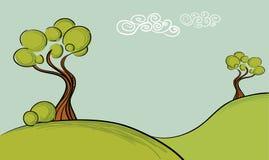 Árvores do vetor Ilustração Stock