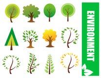 Árvores do vetor Imagem de Stock Royalty Free