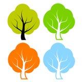 Árvores do vetor ajustadas Imagens de Stock