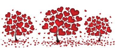 Árvores dos corações Fotos de Stock Royalty Free