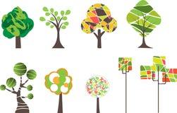 Árvores dos desenhos animados Imagens de Stock Royalty Free