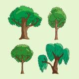 Árvores dos desenhos animados Fotografia de Stock