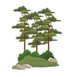 Árvores e arbustos ilustração do vetor
