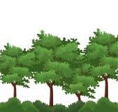 Árvores e arbustos ilustração royalty free