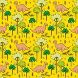 Árvores e dinossauros Fotos de Stock Royalty Free