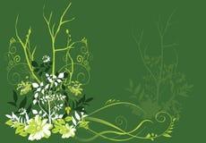 Árvores e flores ilustração do vetor