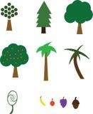 Árvores e fruta ilustração royalty free