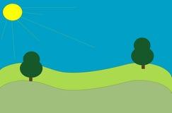Árvores em um campo Imagens de Stock