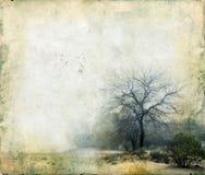 Árvores em um fundo de Grunge imagem de stock