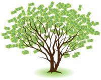 Árvores emparelhadas do dinheiro ilustração do vetor