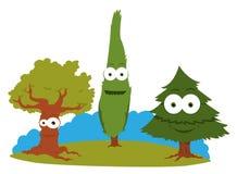 Árvores engraçadas ilustração stock