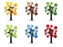 Árvores florais - vetor ilustração royalty free