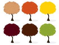 Árvores isoladas ilustração stock