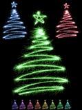 Árvores Multicolor do sparkler ilustração royalty free