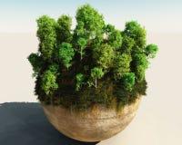 Árvores na esfera Foto de Stock Royalty Free