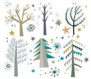 Árvores no inverno Fotografia de Stock