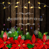 Árvores sempre-verdes da decoração do Natal Imagem de Stock Royalty Free