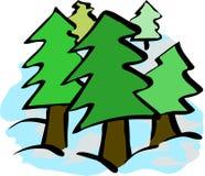 Árvores simples Imagens de Stock Royalty Free