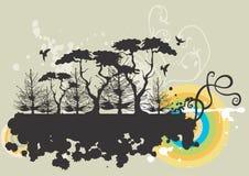 Árvores sujas Fotografia de Stock Royalty Free