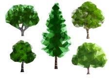 Árvores verdes ilustração stock